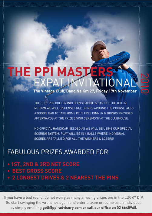 The PPI Masters Expat Invitational (Golf Tournament)