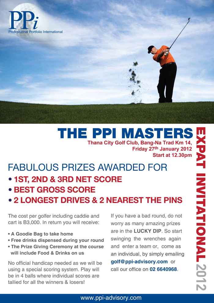 PPi Masters Annual Golf Tournament 2012